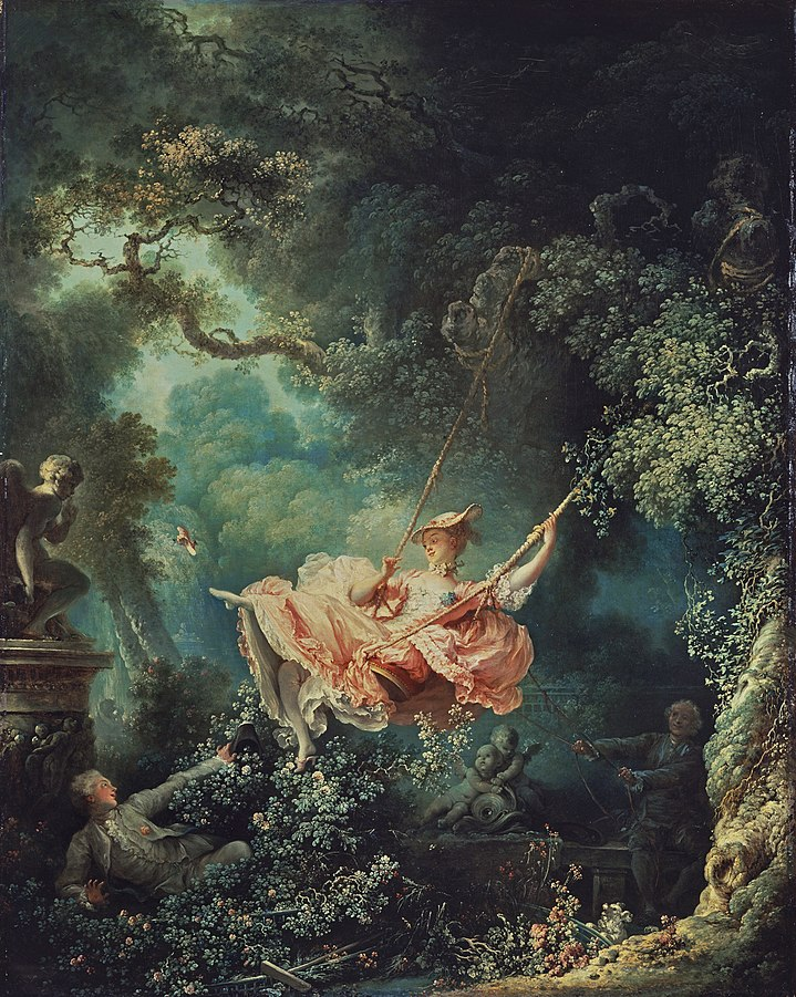 The Swing, Jean-Honoré Fragonard, 1767, Oil on Canvas, 81 x 64 cm, Wallace Collection, London