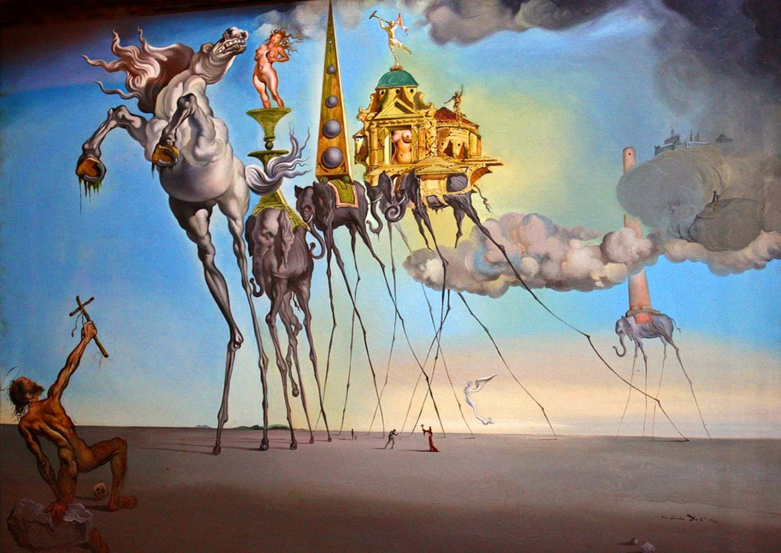 The Temptation Of St Anthony, Salvador Dalí, 1946, Oil on canvas, 89.5 x 119.5 cm, Musées Royaux des Beaux-Arts de Belgique